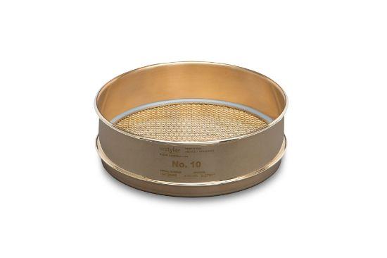 "Picture of WS Tyler 8"" Diameter Brass Frame/Brass Cloth Test Sieves - 4540"