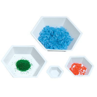 Picture of Hexagonal Antistatic Polystyrene Weighing Dishes