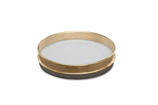 """Picture of WS Tyler 12"""" Diameter Brass Frame/Stainless Steel Cloth Test Sieves - 6979"""